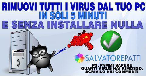 Come rimuovere i virus dal pc