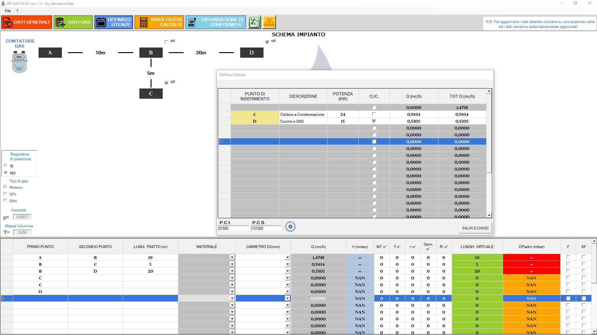 Software dimensionamento e progettazione reti gas