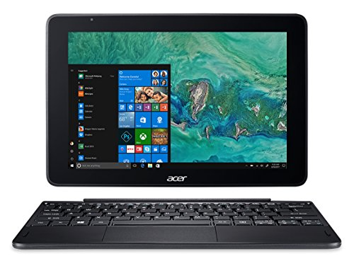 Acer One 10 S1003-17WM Notebook 2 in 1 con Processore Intel Atom Quad Core x5-Z8350, RAM da 4GB DDR3, 64 GB eMMC, Display 10.1″ IPS HD LED LCD, Scheda Grafica Intel HD, Windows 10 Home, Nero