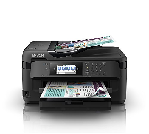 Epson WorkForce WF-7710DWF, Stampante Multifunzione 4-in-1, A3 Fronte/Retro, Connettività Wi-fi e NFC, Touch Screen da 10.9 cm, 18 Pagine al Minuto