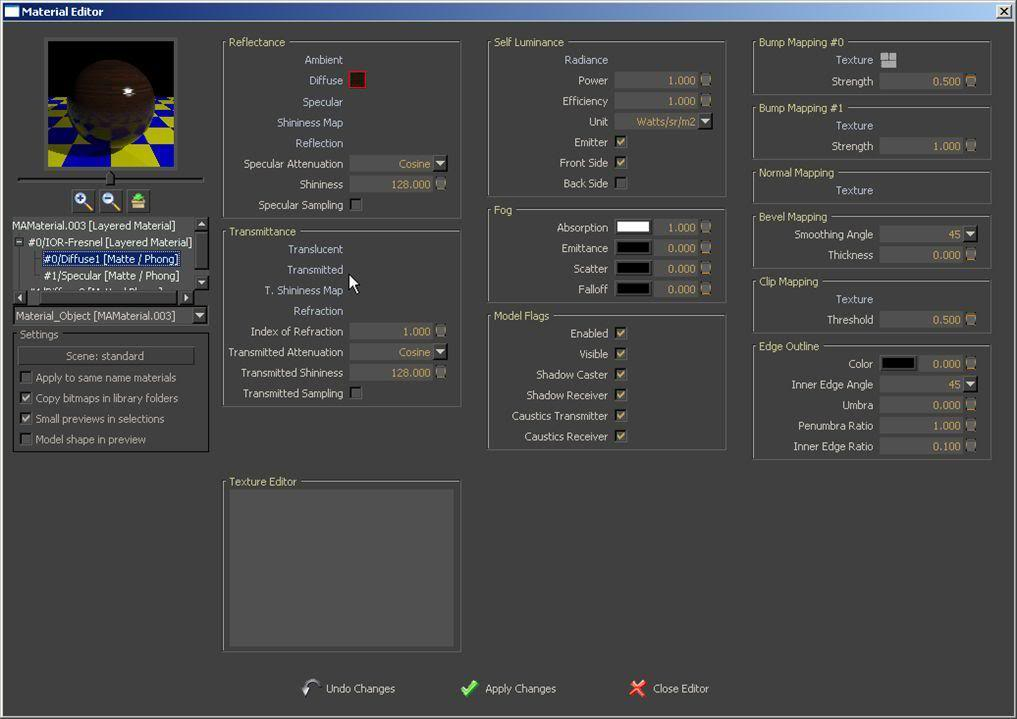 software free rendering 3d materiali impostazioni