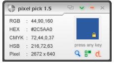 pixel pick colore prelevato