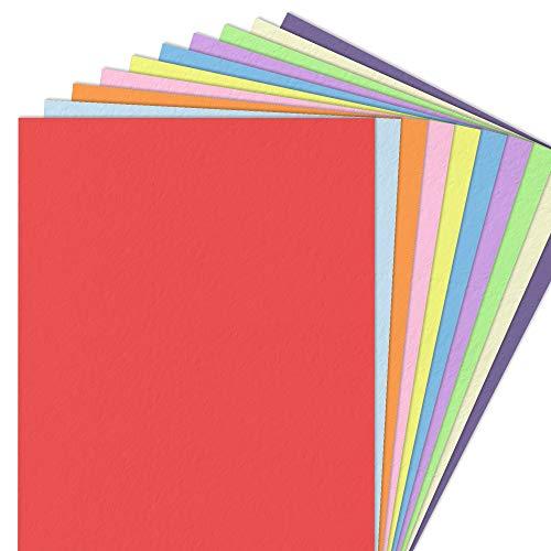120 g/m² Carta Colorata, 100 Fogli (10 Colori, A4)