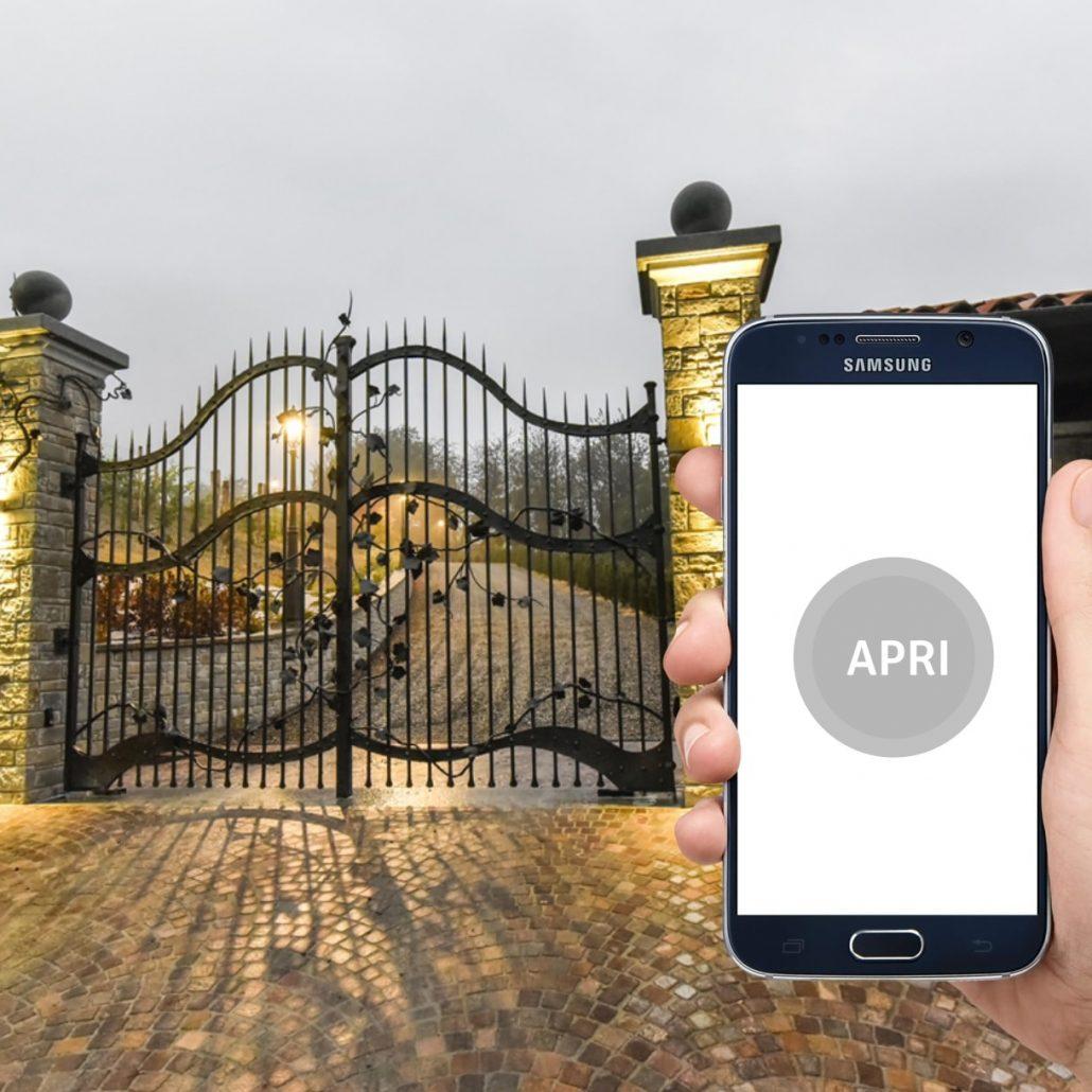 Come aprire il cancello con lo smartphone