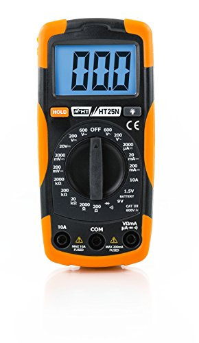 HT-Instruments HT25N Multimetro Digitale Multifunzione Com, Nero/Arancio