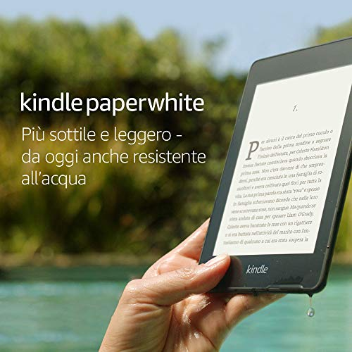 Kindle Paperwhite, resistente all'acqua, schermo ad alta risoluzione da 6″, 8 GB, include offerte speciali
