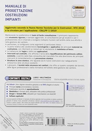 Manuale di progettazione costruzioni impianti. NTC 2018. Per gli Ist. tecnici e professionali. Con e-book. Con espansione online. Con DVD-ROM