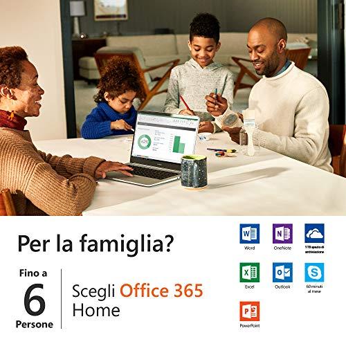 Microsoft Office 365 Home | fino a 6 persone | 1 abbonamento annuale | si installa PC/Mac su un numero illimitato di dispositivi | scatola