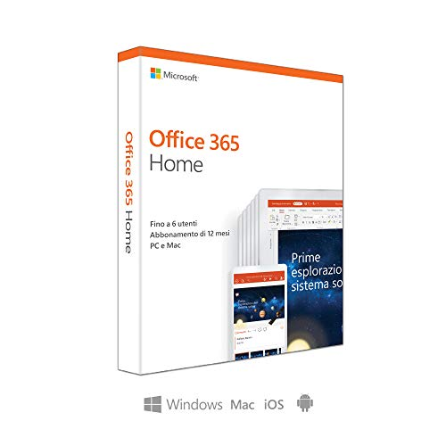 Microsoft Office 365 Home | fino a 6 persone | 1 abbonamento annuale | si installa PC/Mac su un numero illimitato di…