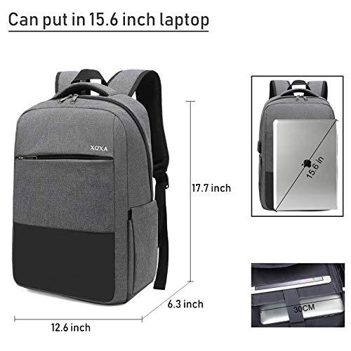 XQXA Zaino per laptop,zaino per computer impermeabile Zaino casual per computer da 17,3 pollici Zaino per laptop con porta USB Zaino Lavoro Uomo per Casual Scuola Viaggio