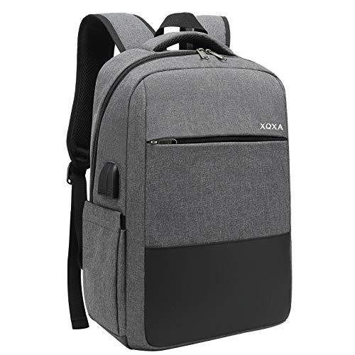 XQXA Zaino PC Portatili,Zaino con tasca antifurto Impermeabile Zaino per Laptop con Porta USB,Zaino per Computer Affari…